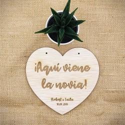 Cartel Corazón 30cm.